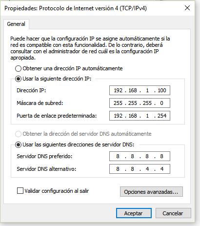 configurar ip est tica en windows 10 taringa